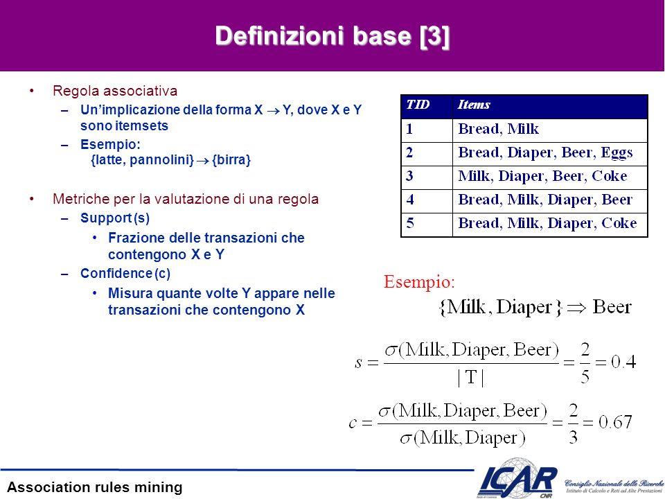 Definizioni base [3] Esempio: Regola associativa